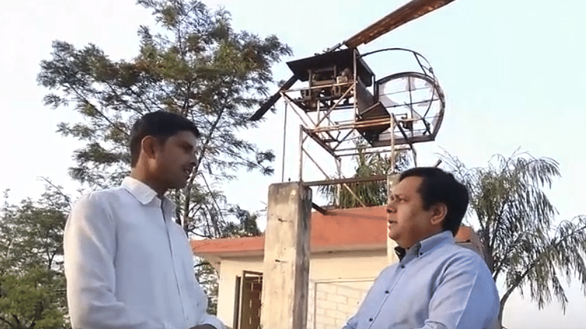 Watch: Village mechanic builds helicopter from tractor parts