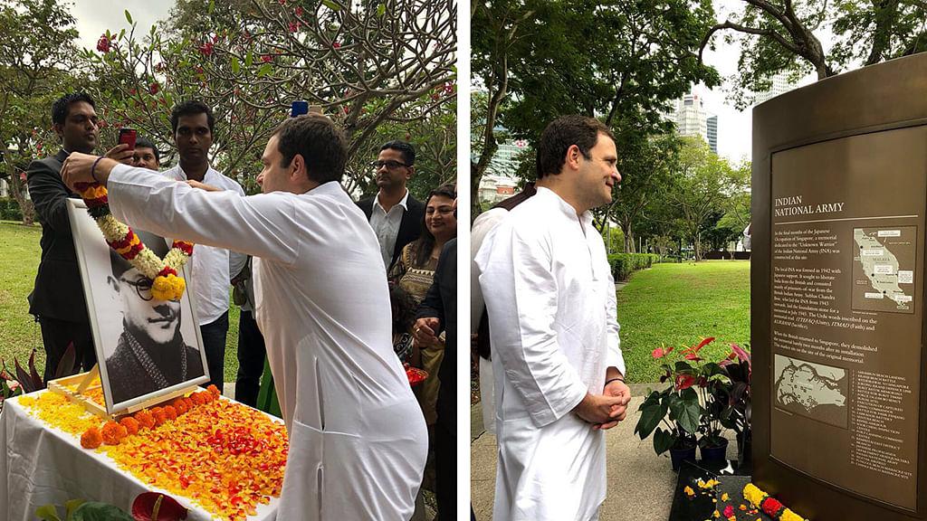 Rahul Gandhi visits Netaji Memorial, meets business leaders in Singapore