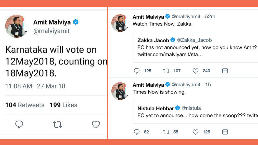 Both BJP and Congress staffers, some channels announced Karnataka poll dates before EC: Reports