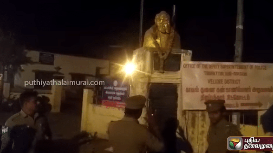 BJP office in TN bombed after Periyar statue vandalised