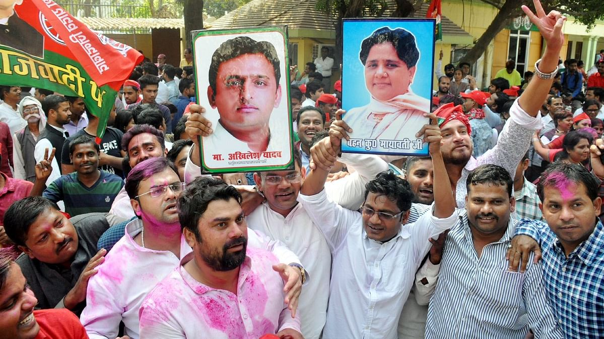 UP bypolls: Akhilesh drives to Mayawati's bungalow to thank her