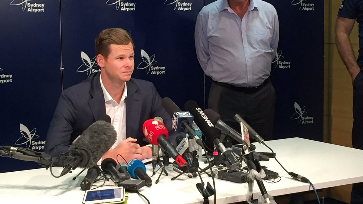 Ball-tampering scandal: Steve Smith apologises after returning to Australia