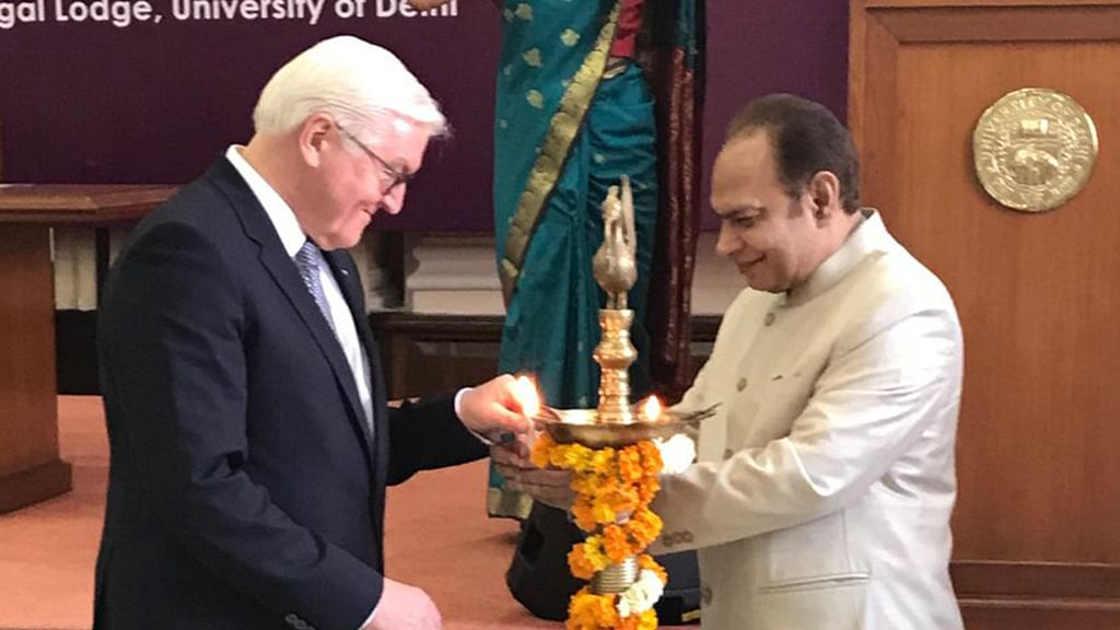 German President pitches for religious tolerance, free speech at DU