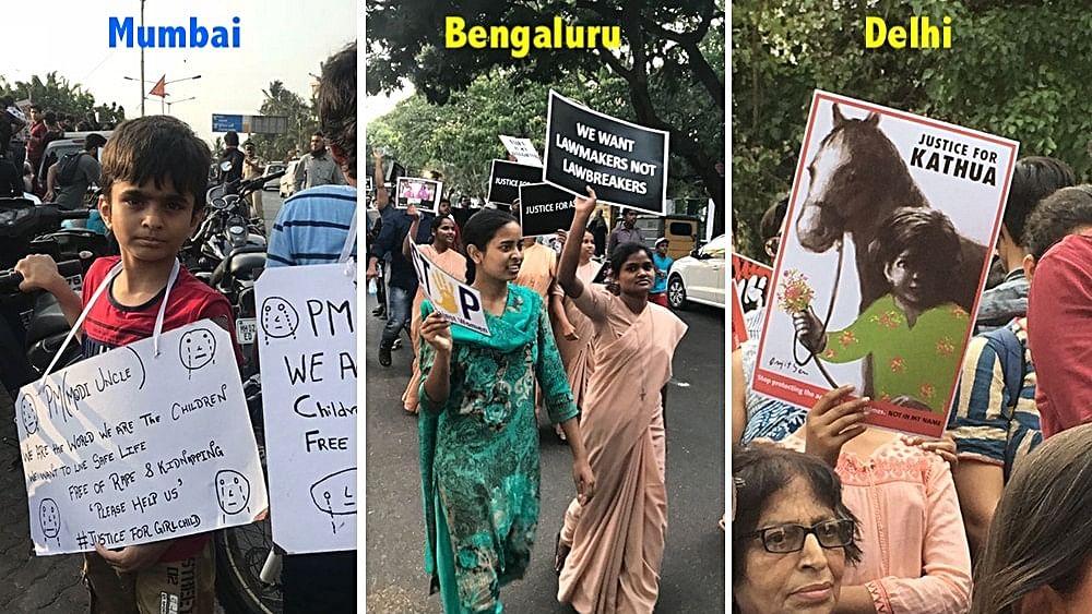 Kathua, Unnao gang rapes: Delhi, Mumbai, Bengaluru demand justice
