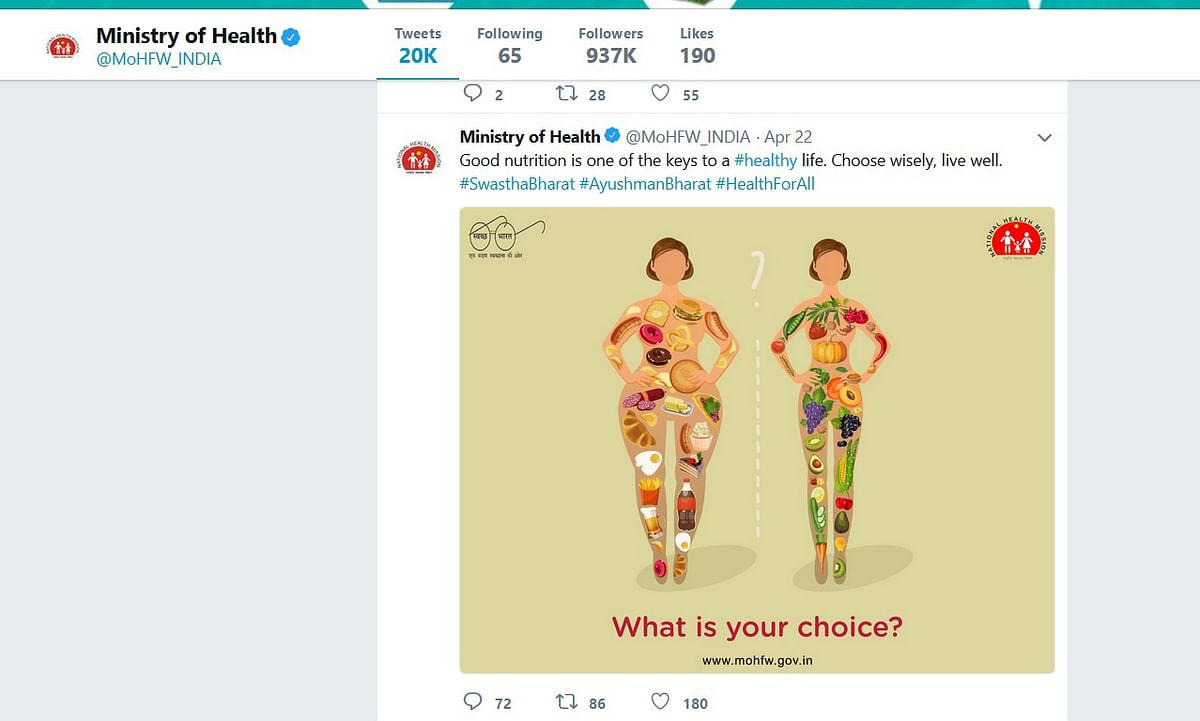 Health Ministry deletes fat-shaming tweet against non veg food