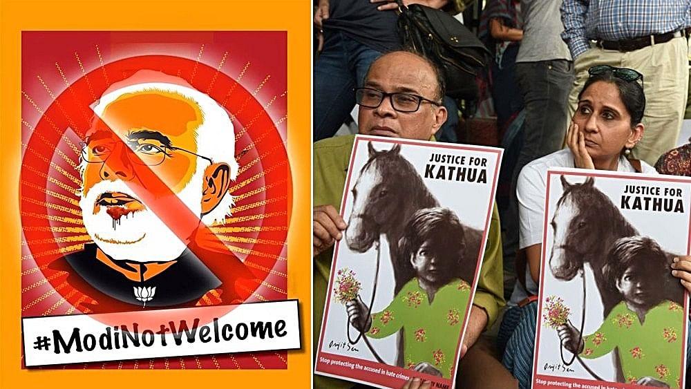 Kathua-Unnao protests to follow Prime Minister Modi to London