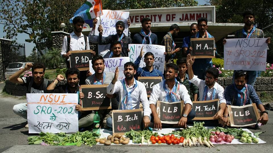 J&K: Unemployed youth protest 'draconian' new job policy