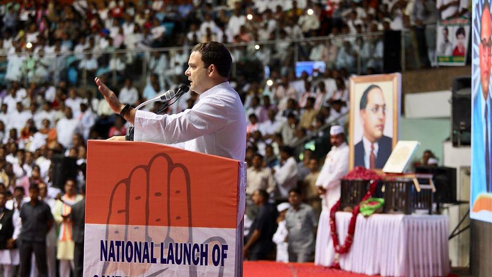 "Rahul points to Modi's Karmayog book to show PM's ""anti-Dalit mindset"""