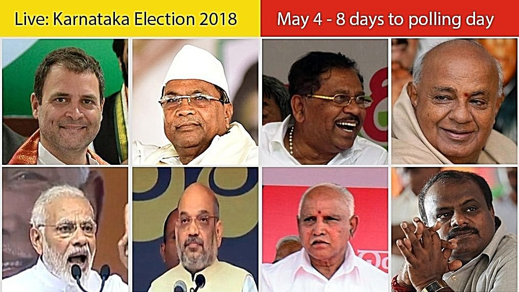 Live Updates: Karnataka Elections, May 4th: 8 days to polling day