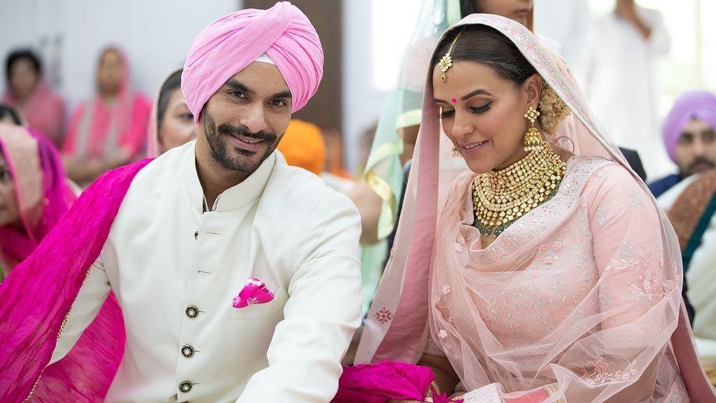 Neha Dhupia 'secretly' marries friend Angad Bedi, trends on top on Twitter