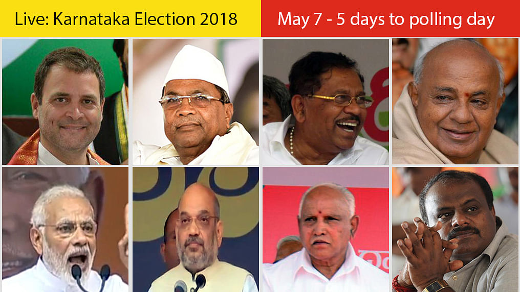 Live Updates: Karnataka Elections, May 7th: 5 days to polling day