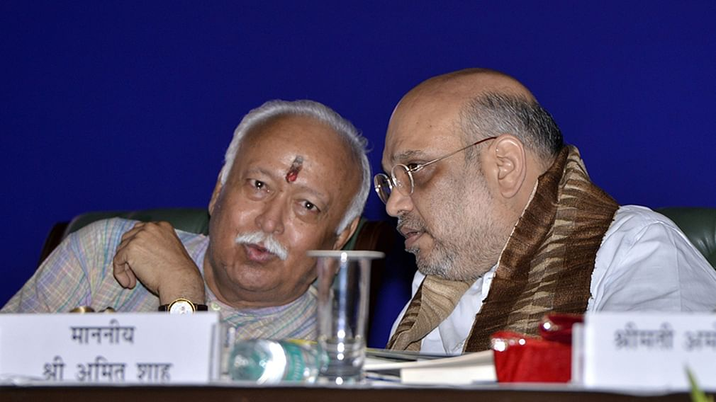 """RSS claims meeting with Amit Shah, BJP union ministers not for """"coordination"""""""