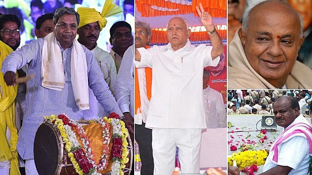 Siddaramaiah on stronger ground than Yeddyurappa, Deve Gowda and son