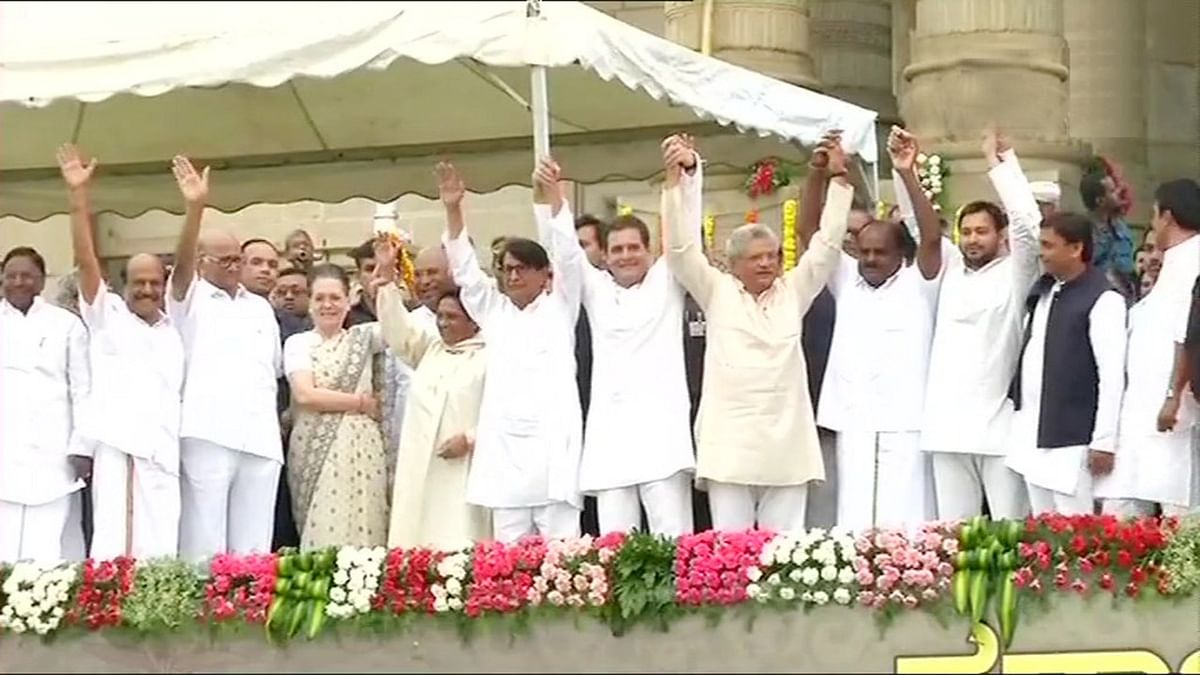 United in Victory: Opposition joins hands at Kumaraswamy's swearing in