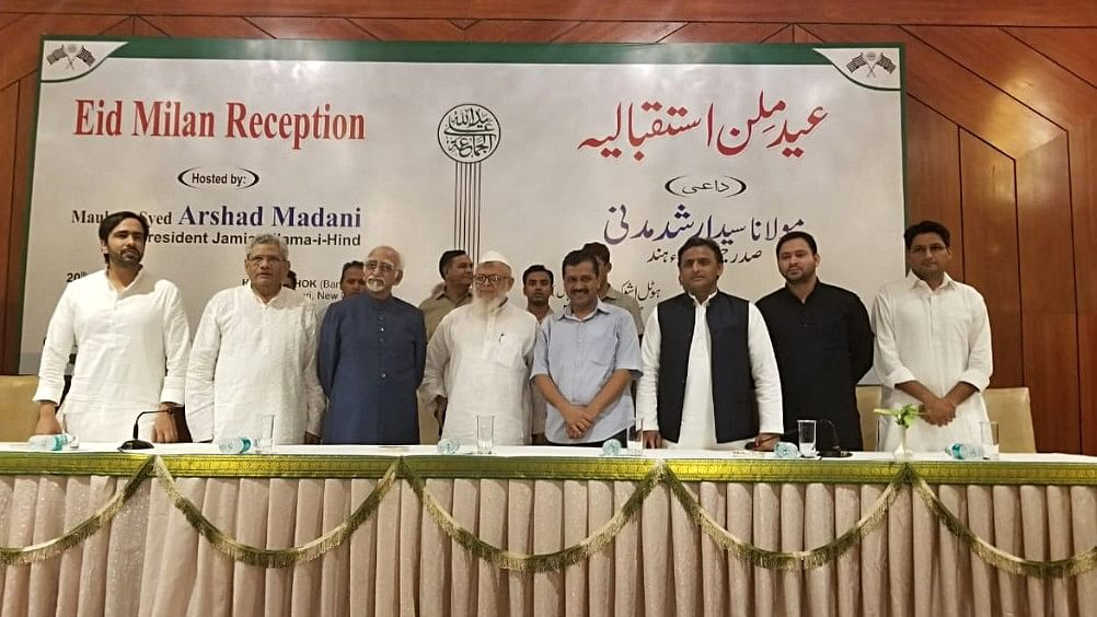 Top Opposition leaders attend Jamiat-e-Ulema's Eid Milan in Delhi