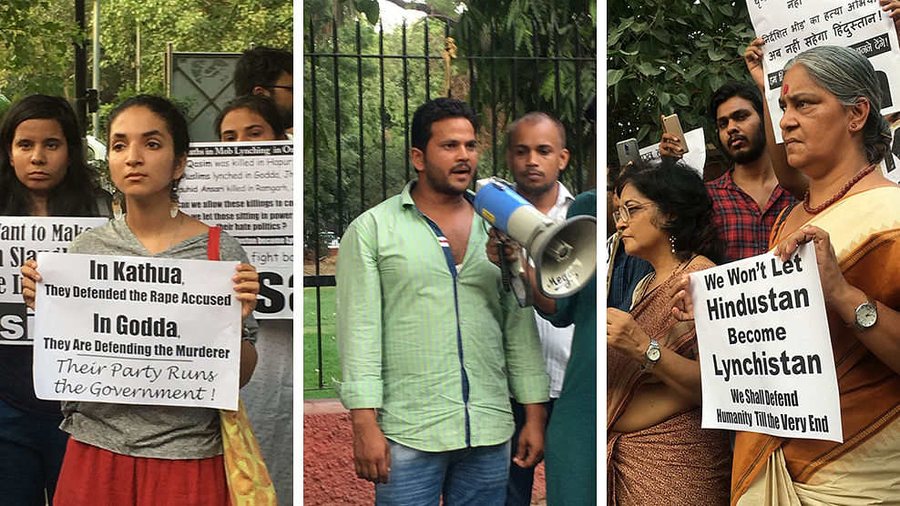 'BJP goons' killed Qasim in Pilkhuwa, says brother at Delhi protest