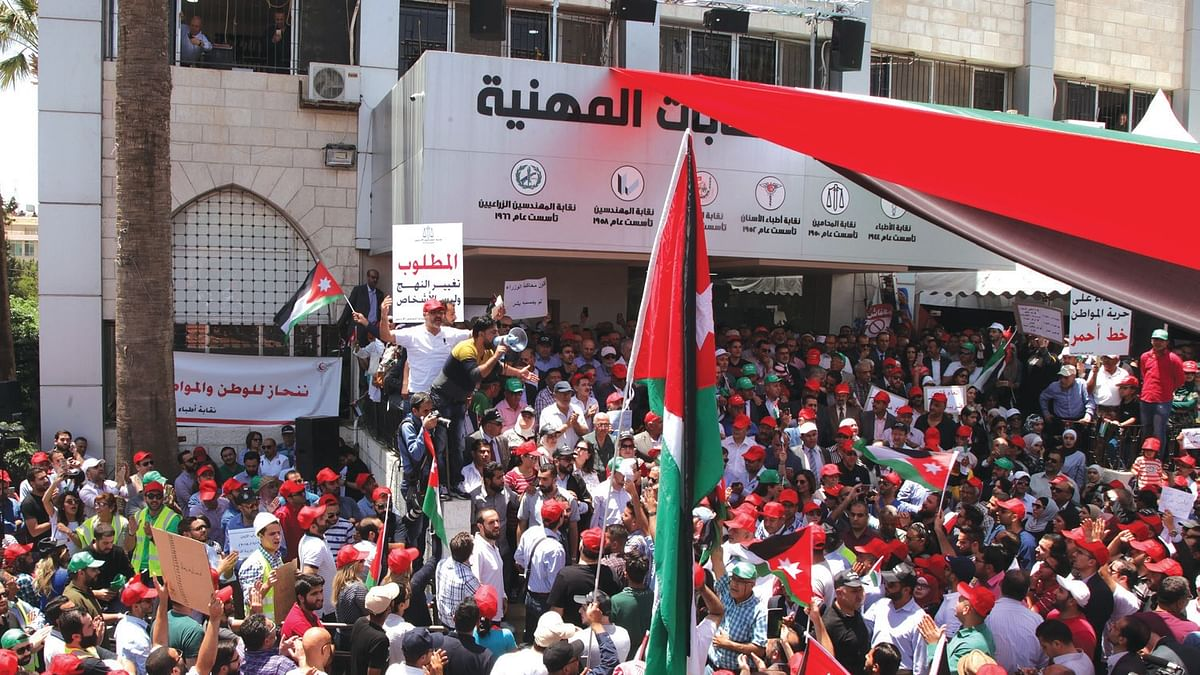 Sixth uprising in six months fells govt in Jordan