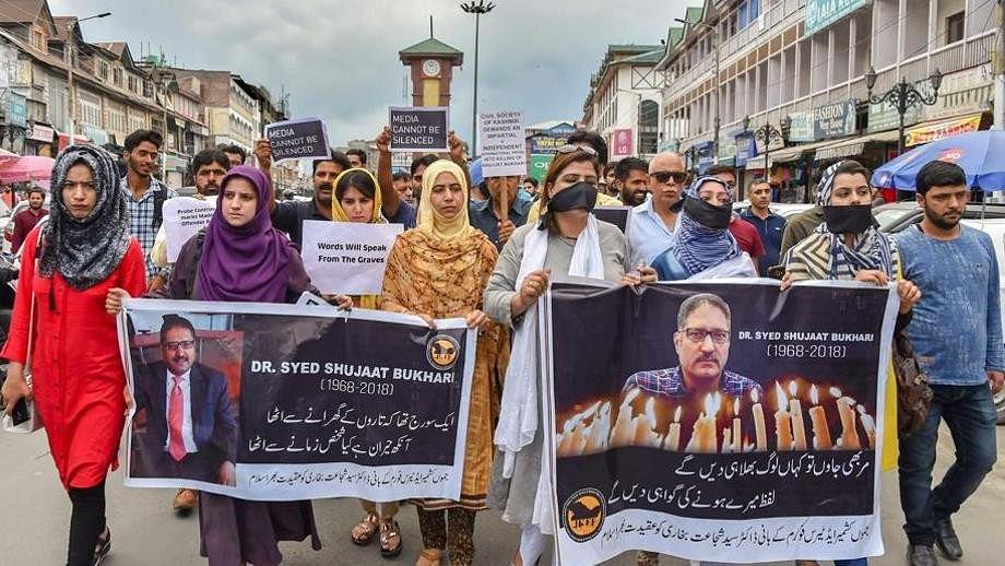 Two Kashmiris, one Pakistani killed Shujaat Bukhari, says report