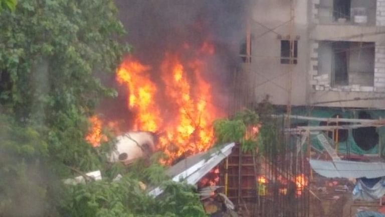 Five killed as chartered plane crashes in a busy Mumbai suburb