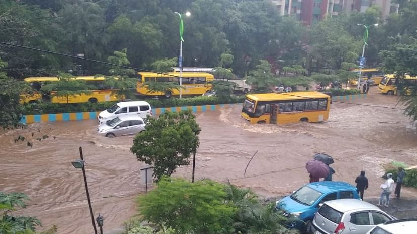 Heavy rains cripple Mumbai; many schools shut, trains delayed