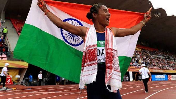 Hima creates history for Indian athletics