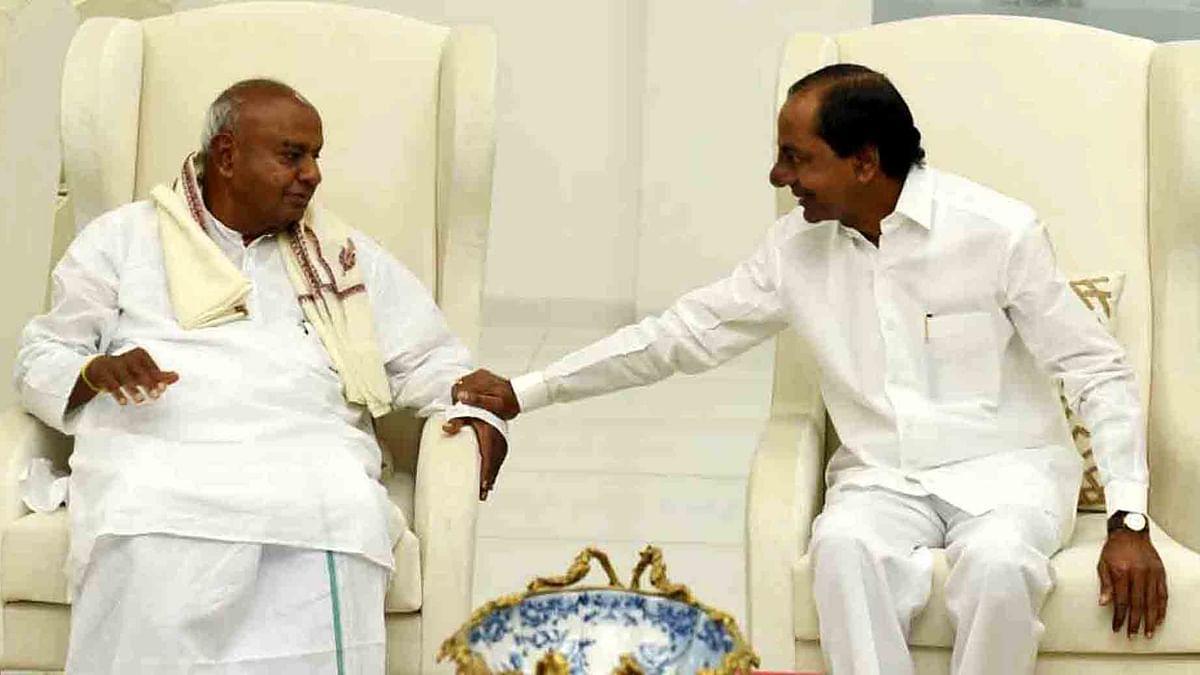 Federal Front talks? Telangana CMO calls Deve Gowda's visit 'courtesy call'