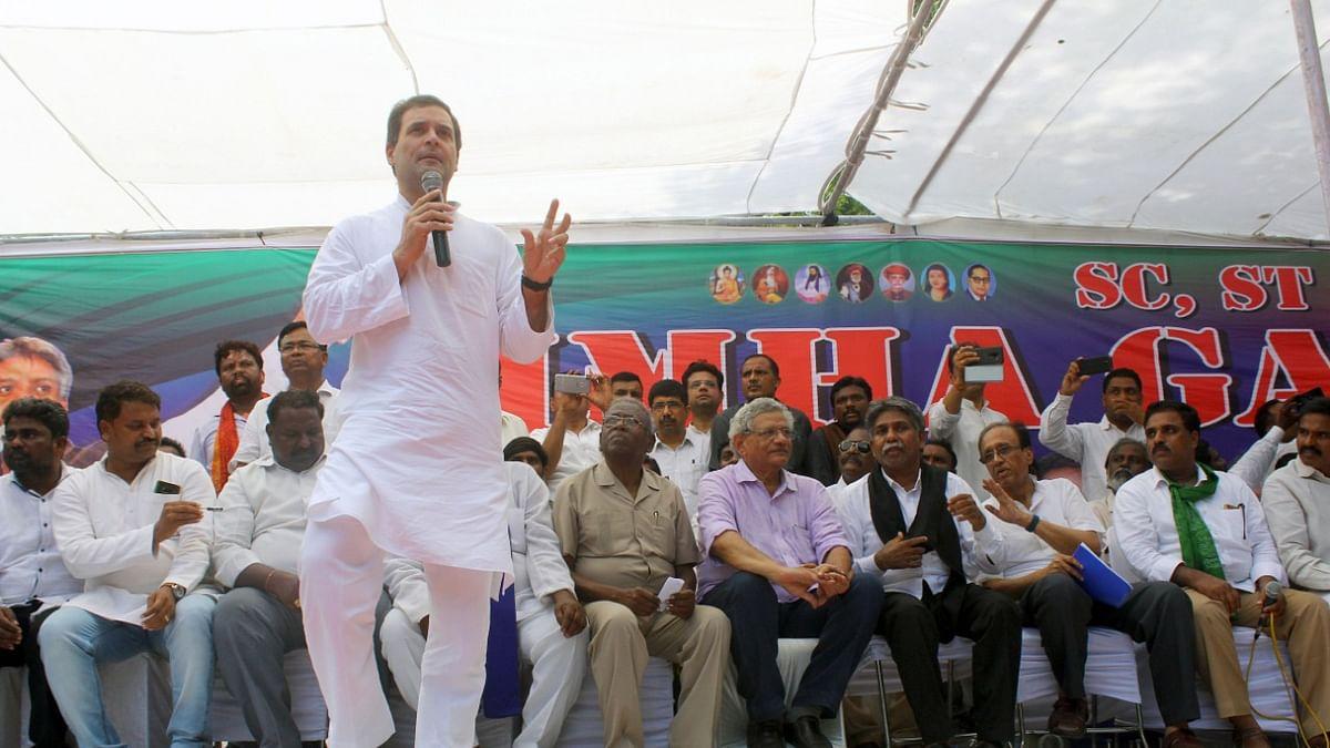 Rahul Gandhi: Modi government is anti-Dalit