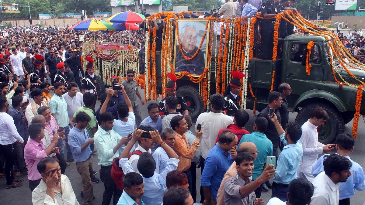 Live: Atal Bihari Vajpayee's last rites conducted