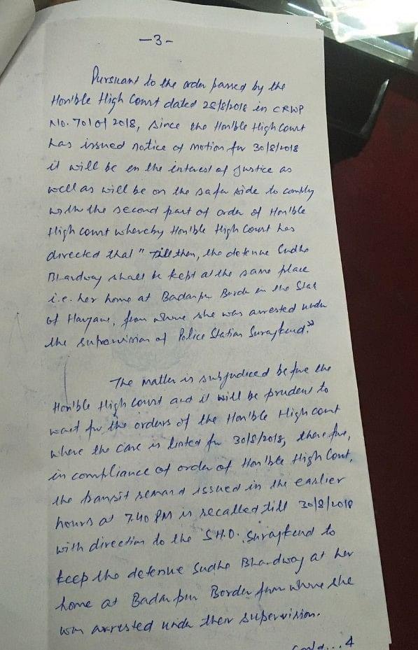 Lawyer-activist Sudha Bharadwaj under house arrest