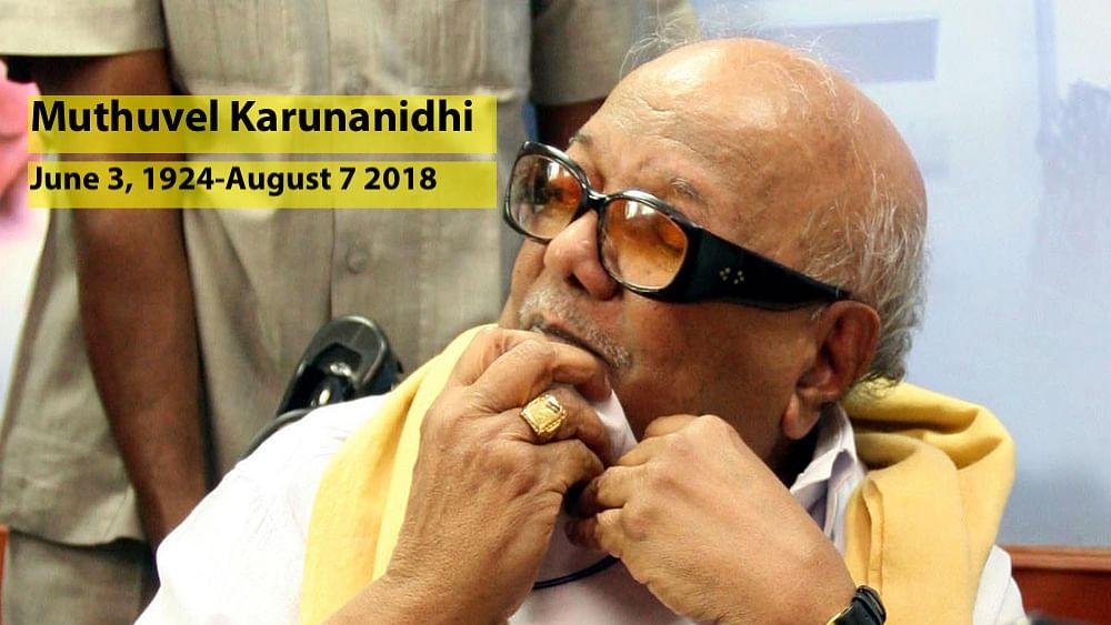 Live: DMK President Kalaignar Muthuvel Karunanidhi dies, aged 94