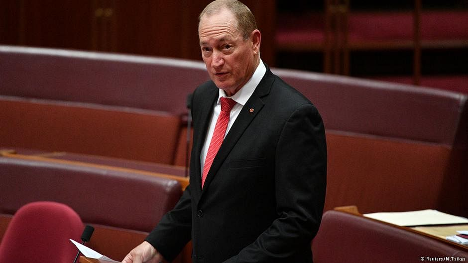Senator's 'White Australia' speech invoking Nazi term sparks uproar