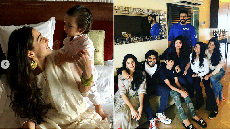 Joyful Rakhi brings Boney Kapoor's & Saif Ali Khan's children together