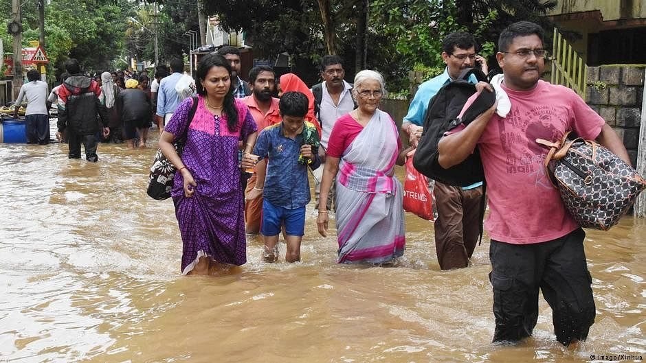 Kerala floods:  76 deaths, 58 people missing, 32 injured