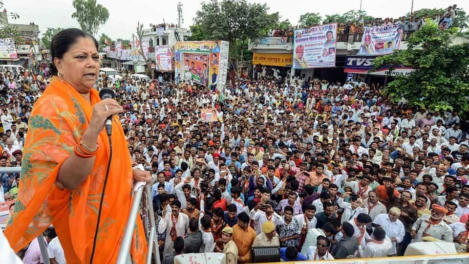Rajasthan HC orders no state function during Vasundhara Raje's 'Gaurav Yatra'