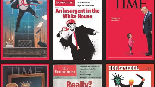 Magazines take on Donald Trump through covers
