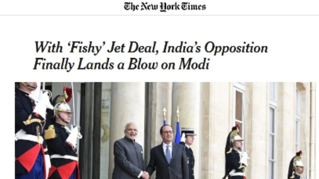 "NYT rakes up Rafale deal, predicts a ""tough one"" for Modi in 2019 LS polls"