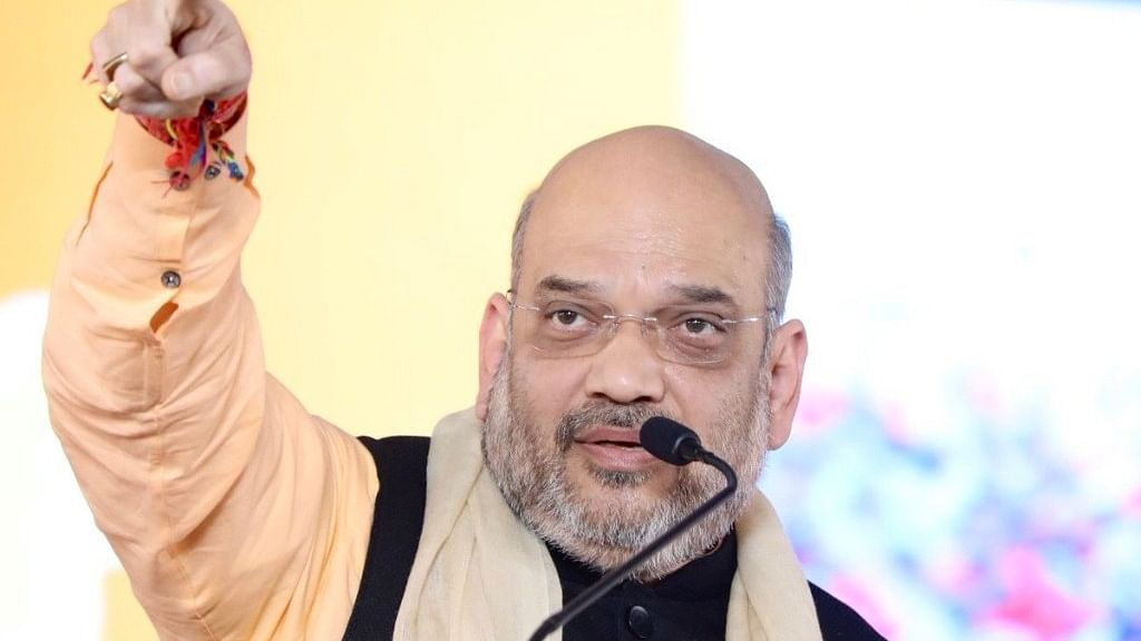 Amit Shah starts  campaign in Indore amid protests against amendment of SC/ST Act