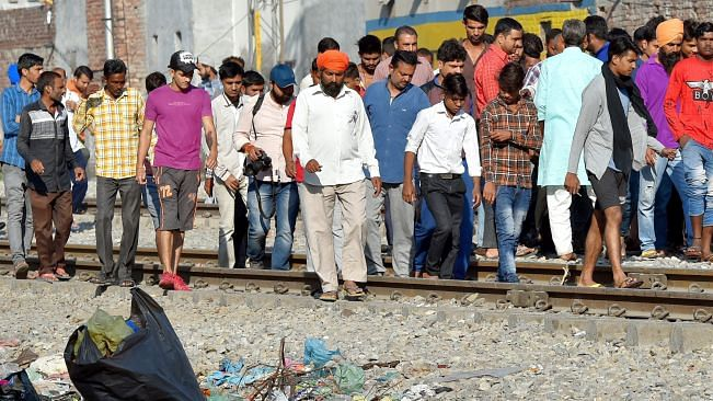 Amritsar train accident: Witnesses claim that the train driver lied, protests erupt