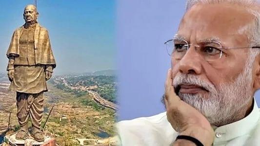 Gujarat: Posters depicting Modi, Statue of Unity torn, blackened