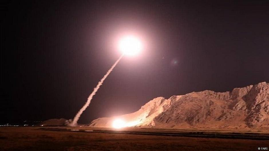 Iran fires missiles at Syria militants
