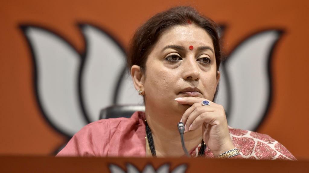 #MeToo:  Smriti Irani says justice must be served,  dodges query on MJ Akbar