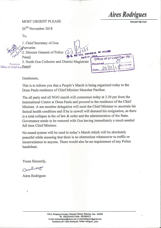 Goa crisis: Civil society demands CM Parrikar's resignation, gives 48-hour ultimatum
