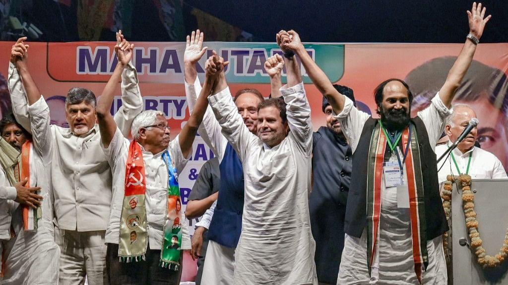 Tale of two rallies in Telangana: Rahul  focuses on Mahakootami; Modi blames Congress again