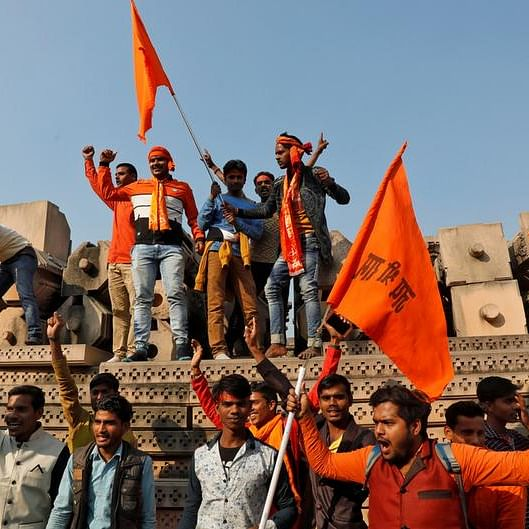 Hard-liners demand temple construction in India's Ayodhya