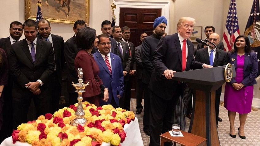 Trump calls Diwali a 'Buddhist' festival; Twitterati rage over 'Hindu' omission