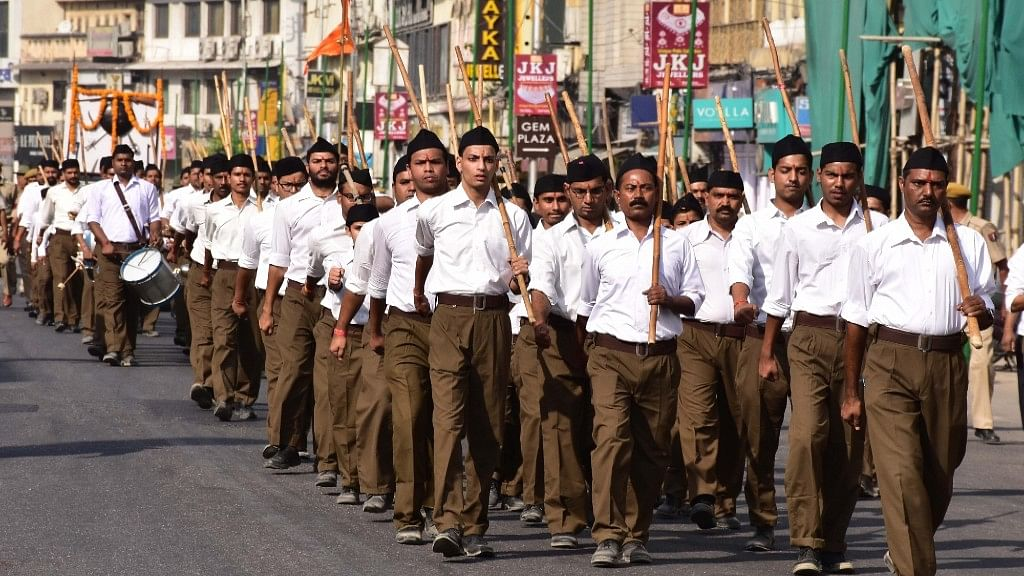 MP polls: Congress vows to ban RSS shakhas in  govt offices if voted to power