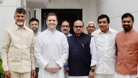 Chandrababu Naidu meets Rahul Gandhi: Opposition  leaders to build anti-BJP front
