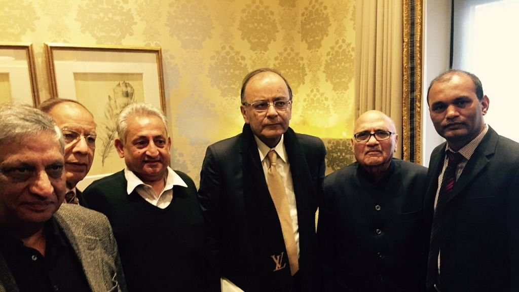 Finance Minister  Arun Jaitley at the inauguration of the OFBJP (UK)'s new website
