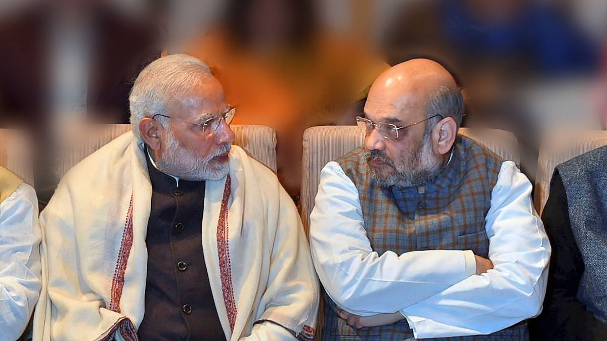 File photo of Prime Minister Modi with Home Minister Amit Shah