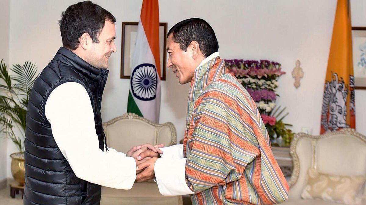 Rahul Gandhi meets visiting Bhutanese PM Lotay Tshering